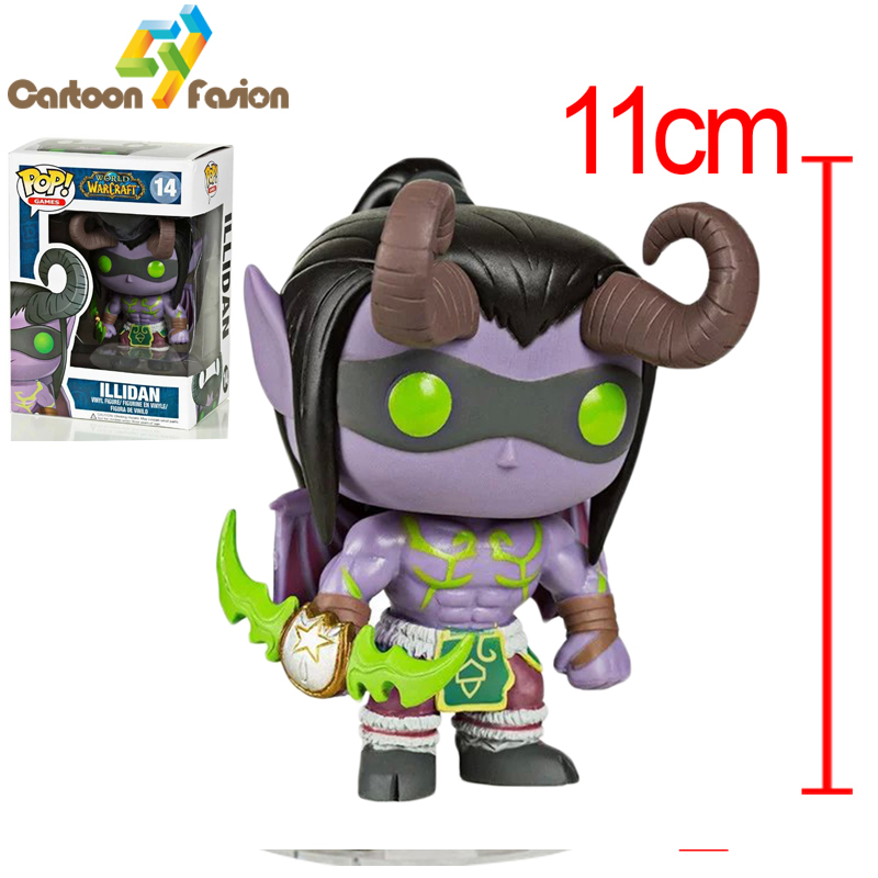 Funko POP Online Game Character the Demon Hunter Illidan Stormrage Action Figure Illidan  Figure<br><br>Aliexpress