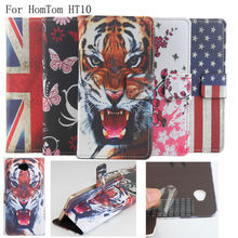Buy Colored Drawing Series Luxury high PU leather case HomTom HT10 Cover Shield Case HomTom HT10 for $5.85 in AliExpress store