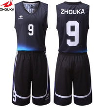 Mesh Breathable Basketball Kits Basketball Team Training Shirt+Short Free Design Name Number Sublimation Printing