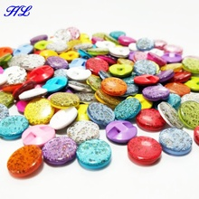 HL 80pcs 12mm shank resin buttons shirt buttons apparel sewing accessories mix colors DIY crafts A1000(China)