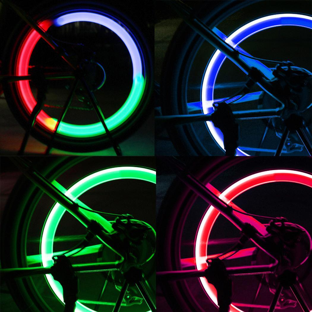 LED Bicycle Bike Cycling Wheel Spoke Wire Tyre Bright Flash Leaf Light Lamp New