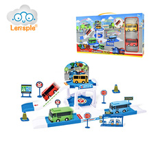 Lensple Hot Sale 4 Types Tayo Lovely Bus Station Watchtower Model Parking Lot Interesting Bus Station For Children's Gift(China)