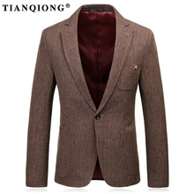 TIAN QIONG 2017 New High Quality Polyester Wine Red Blazer Men,casual Suit Men,men's Business Blazer Suits Brand Clothing DX170