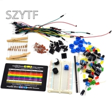 Starter-Kit Arduino-Diy-Kit with Retail-Box for Led/capacitor/jumper-wires/Breadboard-resistor-kit