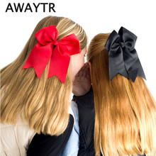 AWAYTR  1 pcs Ribbon Hairbow Girls Elastic Hair Bands Big Bow Children Kids Accessories Gum for Hair 21 Colors Gums Hair Girls