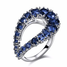 Nice design Rings 5 colors Sparkling crystal jewelry Luxury cocktail Colorful Stones Cubic Zirconia Best Buy Wedding band