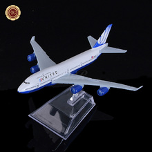 The Air American Airlines B747 16cm Metal Airplane Models Child Birthday Gift Christmas Gift Plane Models Free Shipping