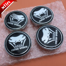 20pcs 60mm Wolf DATA CHAMPS MOTOR SPORTS logo car emblem Wheel Center Hub Cap Rim Badge covers accessories Free shipping(China)