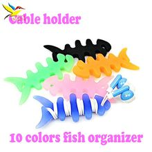 High quality Fish Bone Earphone Cable holder Winder Organizer For earphone charger cable MP4 MP3 iPhone free shipping 1000 pcs(China)
