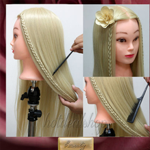 "26"" Super Long Hair Hairdressing Training Doll Head Mannequin Manikin Hair Styling Doll Salon Model(China)"