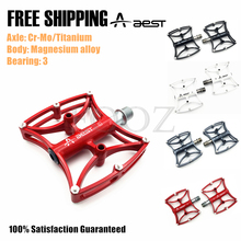 AEST Mountain bike pedals MTB Road cycling Magnesium Pedal Platform Titanium Ti  / Cr-Mo Axle Pedal 188g / 242g/pair