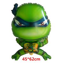 3D Teenage Mutant Ninja Turtles Aluminium Foil Balloons Cartoon Characters Ballons Children Classic Toys Party Decorations(China)