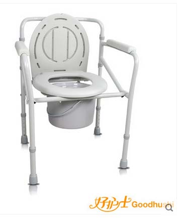 Steel pipe medical bedside folding toliet bath chair with commode chair<br>