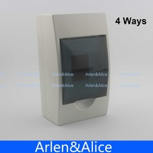 2 - 4 ways Plastic distribution box for circuit breaker indoor on the wall(China)