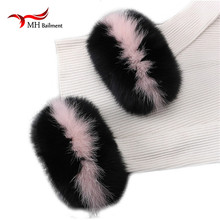 Fox fur Cuffs Hot Sale Wrist Warmer Genuine Fox Fur Cuff Arm Warmer Bracelet Real arm warmers women tattoo sleeve men X#4(China)