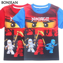 2017 Summer Kids Boys T-shirt Ninja Ninjago T Shirts Children Clothing Cotton Top Tees Boys Girls Kids Costume Boys Clothes 3-8y