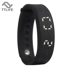 Fashion TTLIFE Brand Smart Bracelets Heart Rate Monitor Smart Bracelet USB Watch LED WristBand Real Time Calorie 3D Pedometer(China)