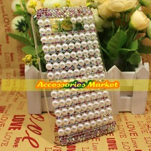 For Samsung Galaxy On7 G6000 Case Cover, Handmade Bling Pearl Colorful Claw Chain Case Cover For Samsung Galaxy On7 G6000 G600(China)
