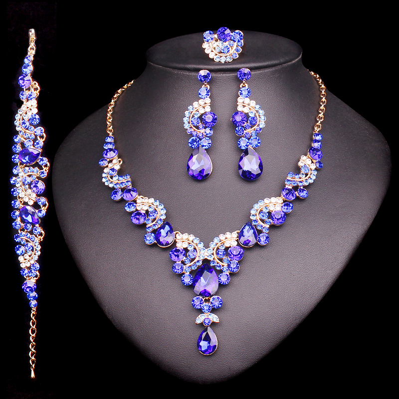 Fashion-Crystal-Wedding-Jewelry-Sets-For-Bride-Party-Costume-Accessories-Bridal-Decorations-Necklace-Earring-Jewellery-for