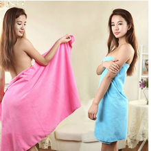 Free Shipping 70x140cm Absorbent Microfiber Bath Beach Towel Drying Washcloth Swimwear Shower(China)
