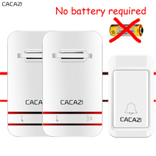 CACAZI NEW No Need Battery DoorBell 38 MUSIC Waterproof Door Bell Wireless AC 110v-240V 120M Remote EU US plug door chime V027(China)