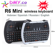 Mini R6 Russsian 2.4G Wireless Keyboard Air Mouse teclado Touchpad For Android Smart TV Box Laptop Mini PC ship from Russian(China)