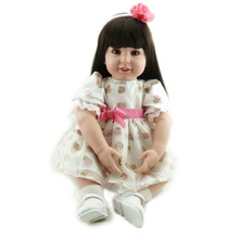 Sleeping Playmate Reborn Babies Soft Vinyl Silicone New Born Baby Doll Long Hair Princess Girl Toys Wiedergeboren Madchen Puppe