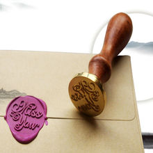 Unique Wood Handle Wax Seal Stamp Wedding Custom/Greetings Envelope Seal Scrapbooking Alphabet Gift Seal Stick