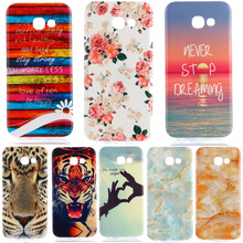 Phone Case For Samsung Galaxy A5 2017 Beautiful Dandelion Tiger Lion Marble Scape Soft TPU Back Cover Skin Shell Capa Celular