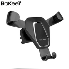 Bakeey Gravity Linkage Auto Lock Rotated Car Phone Holder Air Vent Phone Stand for Mobile Phone Universal Car Stands for xiaomi(China)