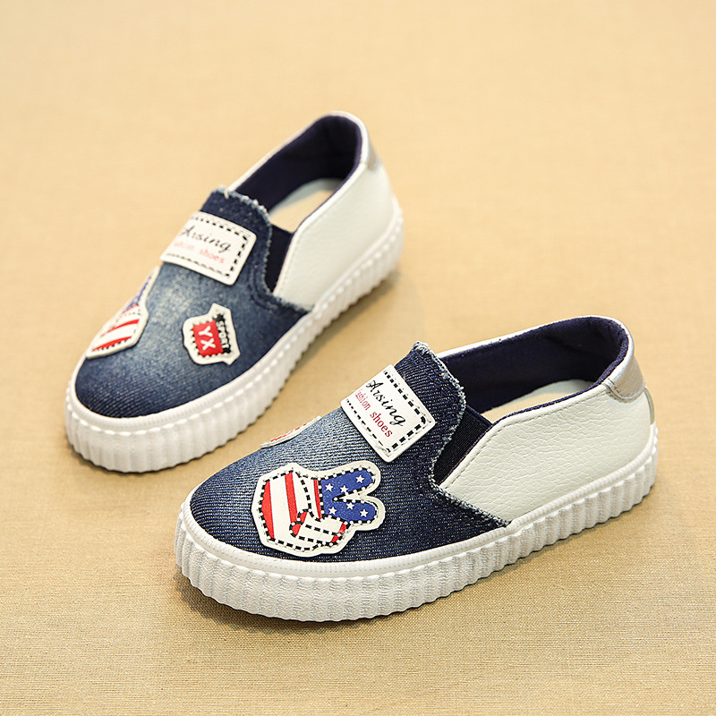 17 New Jean canvas Cool toddler first walkers high quality fashion baby girls boys shoes high quality kids casual sneakers 6