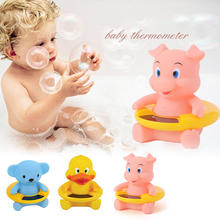 Cute Duck Bath Tub Baby Infant Thermometer Water Temperature Tester Toy LCD displayWaterproof safety float Temperature Bear(China)