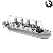 Pandamodel@SHIPS 3D Metal model Etching Puzzles Chinese Metal Earth TITANIC creative gifts Stainless steel ornaments