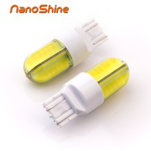 Nanoshine 2017 newest 2x super bright led T20 7443 w21/5w car light led Brake stop Parking Reverse auto Lamp bulb 12v COB(China)