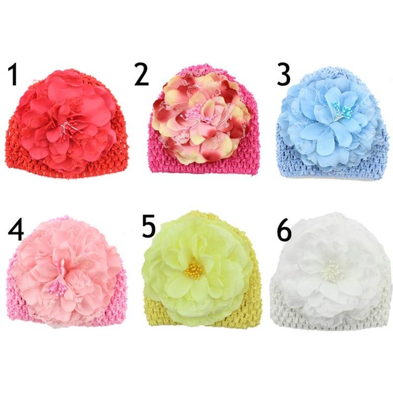 Retail girl headwear baby girls hat 13CM big peony Flowe baby photo props accessories for hair kids Knitted capÎäåæäà è àêñåññóàðû<br><br><br>Aliexpress