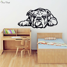 English Bulldog Wall Decal Vinyl Sticker Home Decor, Bulldog Art Mural , Living Room, Bedroom , Kitchen Wall Decoration Stickers(China)