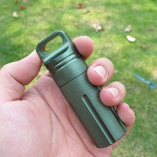 Hot Sale Mini Waterproof Metal Pill Box Case Bottle Stash Holder Keychain New Outdoor Portable Useful Pill Box(China)