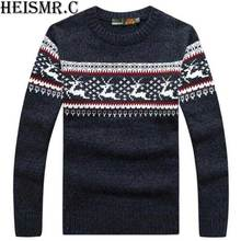 SMT42 2017 New Men'S Brand Sweater Men Snow Dlk Pattern Knitwear Autumn Winter Casual Thick Warm Christmas Deer Pullover Sweater