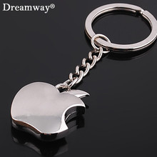 novelty souvenir apple key chain creative gifts zinc alloy  keychain key ring trinket chaveiros metal keycover free shipping