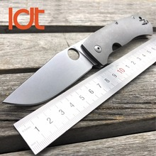 LDT Tactical Folding Knives D2 Blade TC4 Titanium Handle Pocket Survival Knife Camping Hunting Outdoor OEM Utility Tools EDC