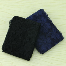 7cm wide 5 yards 2 color selection dark blue, black elastic lace, wedding dress