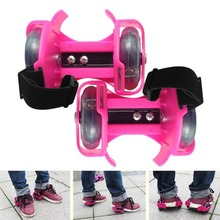 3-Colors Light Flashing Roller Small Whirlwind Pulley Adjustable Simply Roller Skating Shoes with Dual Wheels for Children New(China)
