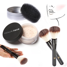 Professional  Make up Fixing Clam Makeup face powder +Brushes Cleaner Tool Box+Wood Handle Brush Make Up Tools Set