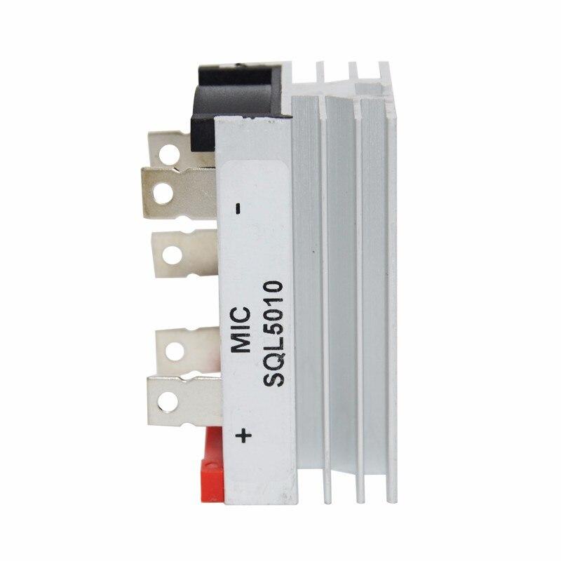 1pcs New SQL5010 50A 1000V Three Phase Bridge Rectifier With Heatsink Guaranteed 100%<br>