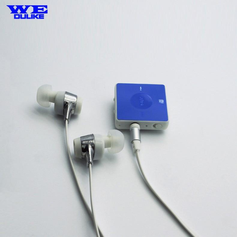 Wedulike Stereo Bluetooth Bass Music In-Ear Earphones Bluetooth 4.1 Wireless Sports Ear Hook Earphone with Mic with Collar Clip<br><br>Aliexpress