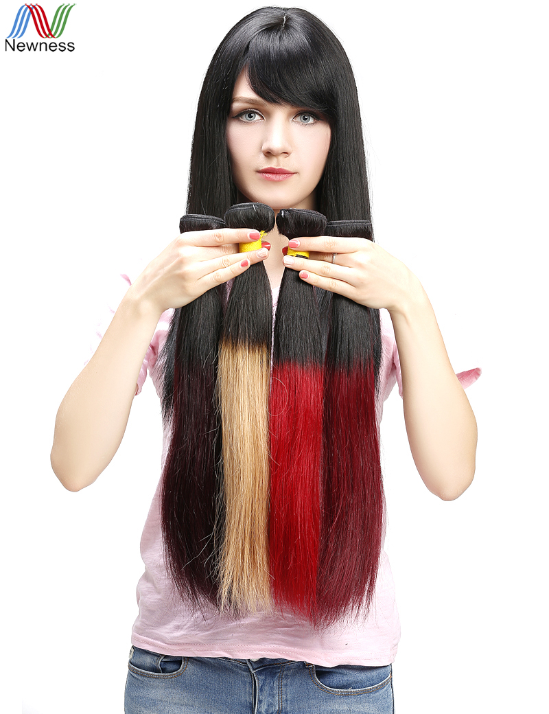 Newness Brazilian Ombre Red Hair Bundles Brazilian Virgin Hair Straight Hair Extension Brazilian Virgin Ombre Bundles 3pc/lot<br><br>Aliexpress