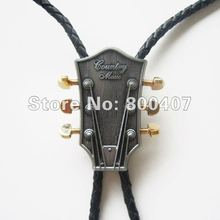 Retail Bolo Tie (Western Country Music Guitar Bolo Tie) Factory Direct Free Shipping BOLOTIE-MU044