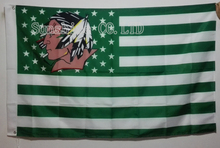 North Dakota Fighting Sioux  USA With Stars and Stripes Flag hot sell goods 3X5FT 150X90CM Banner brass metal holes ND04