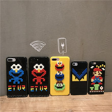 Luxury Sesame street Phone legos toy Cases For Iphone 6 Case For Iphone7 6S 7Plus 6SPlus DIY 3D Cute Cover(China)