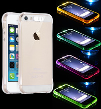 Fashion Drop Resistance LED Flash Luminous Calls Case For iphone 6 6s 7 Plus 5 5s SE Back Cover for iphone 7 7Plus Shell Fundas